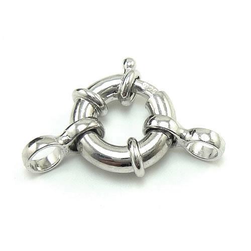 / 925 Sterling Argent Clasps Croques Crétations Composants pour cadeau de bijoux Craft DIY 10mm WP335 *