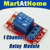 arduino için 5v röle modülü toptan satış-10 Adet / grup Ücretsiz Kargo Arduino Için 1 Kanal 5 V Röle Modülü Kalkanı PIC ARM AVR DSP SCM # BV087 @ CF