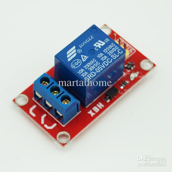 10 Adet / grup Ücretsiz Kargo Arduino Için 1 Kanal 5 V Röle Modülü Kalkanı PIC ARM AVR DSP SCM # BV087 @ CF