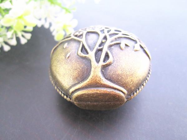 Antieke bronzen pot met boom patroon charme hanger 42mmx43mm, sieraden accessoires 5pcs / lot