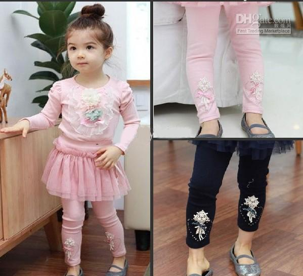 2017 Girl Cute Leggings Kids Soft Cotton Tights Baby Dress Legging ...