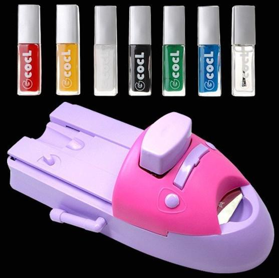 Gran Desmonte! 7 colores DIY Impresora de uñas Patrón Esmalte de uñas Máquina de impresión Nail Art Stamping Machi