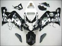 Wholesale K4 Fairings - Black White Fairing kit For SUZUKI GSX-R600 750 GSXR600 750 2004 2005 GSXR 600 GSXR 750 K4 04 05 Fairings set