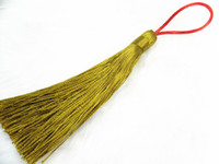 Wholesale Prayer Beads Mala Beads Silk Yellow Wire Line Thread Tassel Fringe For pc per