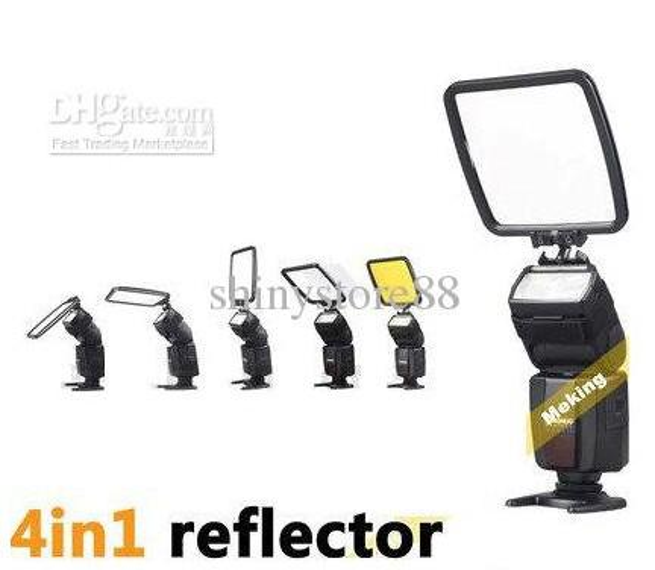 Universel Pro Flash Diffuseur Flash Réflecteur Kit pour Canon Nikon Olympus Samsung Sony Nissin Tumax