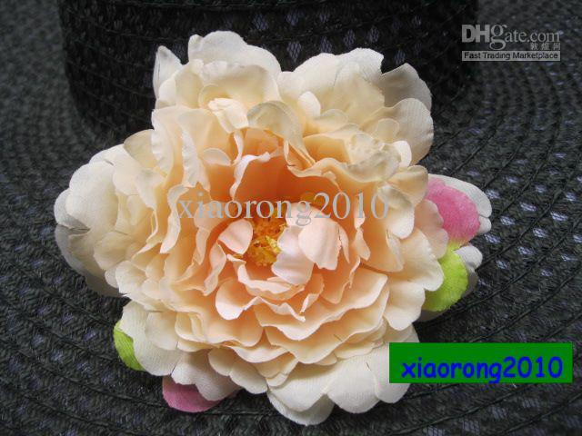 Peônia de seda Cabeça de Flor 13 cm de Seda Artificial Grande Peônia Camélia Cabeças de Flores de Camélia Flores para a Flor Decorativa Jóias