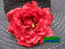 Wholesale Wholesale Silk Flower Prices - LOW PRICE WHOLESALE 100pcs 13cm Silk Artificial Simulation Peony Rose Camellia Flower Heads for Wedding Party Decorative Flower