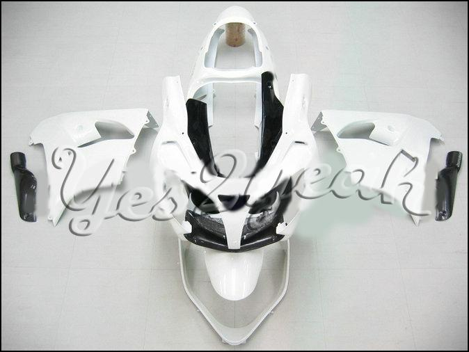 Blanco Kit de cuerpo de carenado negro para KAWASAKI Ninja ZX-9R ZX 9R 00 01 Carrocería ZX 9R 2000 2001 Carenados + regalos