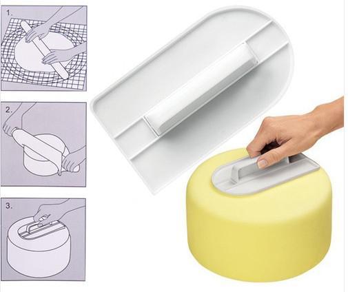 Bolo branco decoração de confeiteiro Smoother Polisher fondant sugarcraft cozinha ferramenta