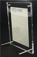 "Wholesale Acrylic Advertising - acrylic billboard photo frames 6"" 7"" 8"" 10"" A5 clear acrylic phone frame offical display frame display card tent plexiglass blank frame"