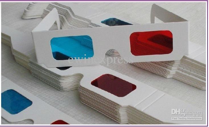 3500X NUEVO 3D Gafas Rojo Cyan / Azul Estéreo Gafas Tridimensionales Gafas Anáglifos NUEVO Al Por Mayor Envío Gratis