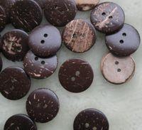 costas da coroa lisa venda por atacado-200 pcs 25mm 2hole Natural Botões De Coco, NOVO design de Vestuário DIY Costura Garment Craft muito