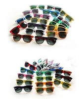 Wholesale Hot Sale Classic Sunglasses - 20PCS hot sale classic style sunglasses women and men modern beach sunglasses Multi-color sunglasses