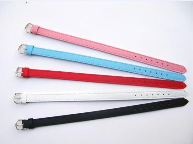 Venda por atacado - / 8mm couro genuíno pulseira pulseira apto para 8 mm diy slide encantos moda jóias