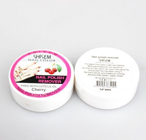es 24 unids / lote 6 * 4 maquillaje removedor de esmalte de uñas toallitas de eliminación rápida no sensible de aceite de uñas