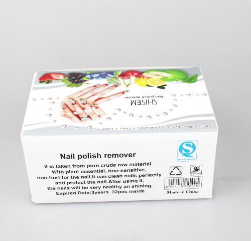 4 Farben 24 teile / los 6 * 4 Make-Up Nagellackentferner Tücher unempfindlichen Schnelle Entfernung Von Öl Nagel