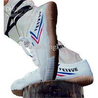 Wholesale Chinese Art Canvas - Chinese Kungfu Wushu Shoes Athletics Feiyue Martial Arts Shoes fashion couple shoes