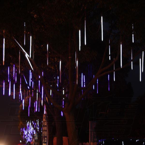 Lado duplo 96 luzes LED 80 cm Meteor chuva luz, enfeites de natal luzes, Fada Do Casamento Do Flash LED