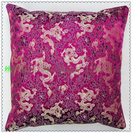 Wholesale Luxury Wholesale Chairs - Mulberry 100%Silk Pillow Case Decorative High Quality Fashion Double-Surface Dragon Pattern Luxury Cushion Covers For Sofa Chair Car