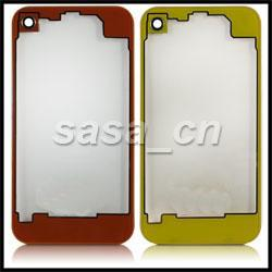 Wholesale Replacement Battery Iphone4 - For iPhone 4 Clear Glass Back Housing Replacement Battery Door Cover Assembly for iPhone4 4G