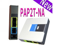 Wholesale Pap2t Voip Adapter - New LINKSYS PAP2-NA PAP2T-NA SIP VOIP Phone Adapter 2 Port UNLOCKED RJ-45 port LAN Ethernet