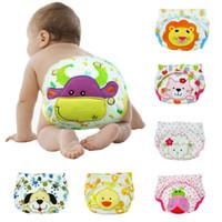 Wholesale cotton bread pad - Baby Changing Pads Training Pants Cartoon bread pants unisex 9 color   12 pcs lot LSY01
