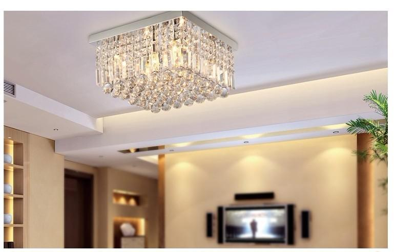 Fashion Simple Crystal Lamp Lights Bedroom Lamps Of Modern Living Room  Dining Room Ceiling Lamp