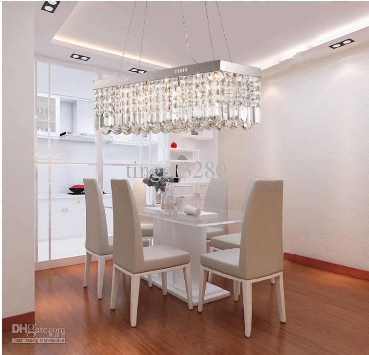 Moderne quadratische Wohnzimmerlampen der Luxusrestaurantleuchter, die Kristalllampenschlafzimmerlampen beleuchten