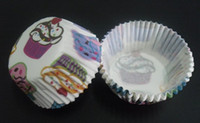 Wholesale Cute Party Cakes - 2014 500pcs cute lovely multi cakes cupcake baking paper cup muffin cases for party