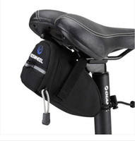 Wholesale Black Cycling Saddle - New 2012 Black Bicycle Bike Cycling Under Seat Saddle Bag Pouch