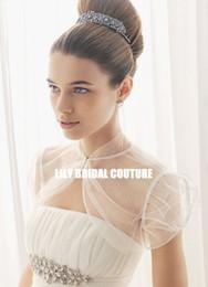 Wholesale High Collar Bolero Wedding - 2012 New Short Sleeves High Collar Tulle Wedding Jacket Bridal Bolero Wedding accessories Wraps
