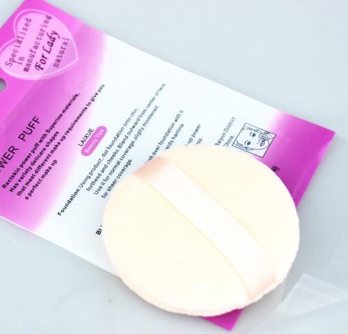 Style de ruban de couleur de peau de coton 70mm de bouffée cosmétique de bouffée cosmétique /