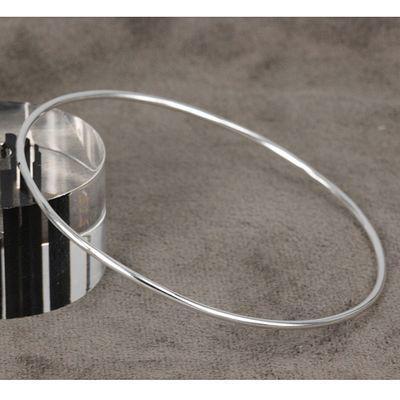 B123 Pretty 925 Silver Smooth Bangle/Bracelet , Elegant Good Selling Cuff Bangle