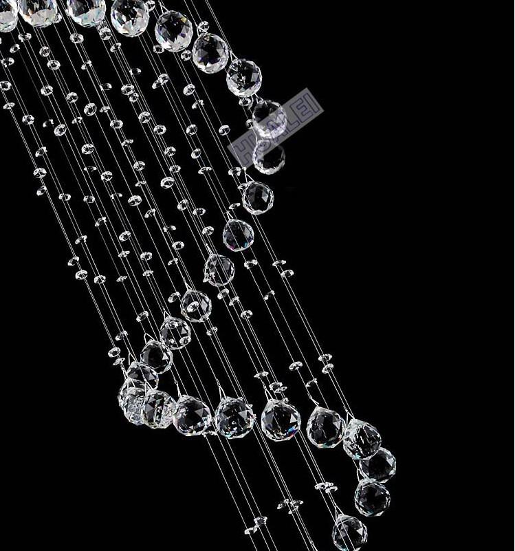 Ny kristalllampa dubbel trappa lampa k9 kristall spridda trappor ljuskrona projekt hängande lampa