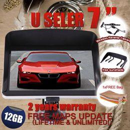 "Wholesale gps maps australia - 7"" Car GPS Navigation Bluetooth Wireless Reverse Camera+2015 3D maps 12GB+ AV-IN+2 free gifts"