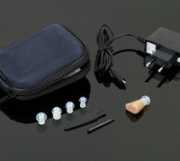 Wholesale Mini Ite Hearing Aids - newest gift 1pc Rechargeable ITE hearing aids  Mini audiphone New arrival#Hot sale