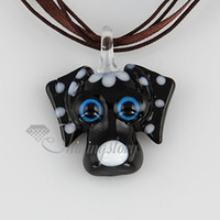 Wholesale Cheap Glass For Blowing - Dog Italian venetian lampwork blown murano glass handmade pendants for necklaces cheap china fashion jewelry MUP108
