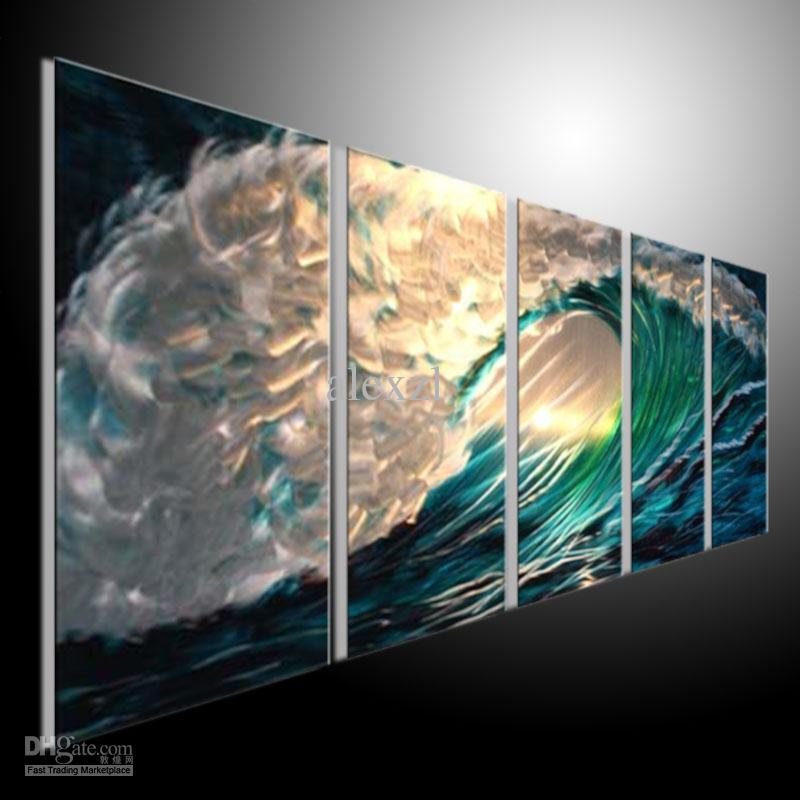 Cheap Abstract Wall Art 2017 metal wall art abstract modern sculpture painting handmade 5