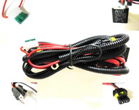 Wholesale Hid Relay High Low - H4 high and low beam xenon Car HID Xenon Conversion Harness Fuse Relay Wire Wiring Vehicle
