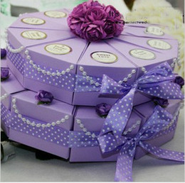Wholesale Wedding Cake Favour Boxes - Beautiful Wedding Favours Candy Box Wedding Favor Boxes like double-deck Cake 50Pcs Lot FFF 51