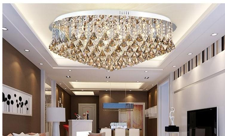 Luxurious Living Room Lamp Modern Crystal Lamp Ceiling Lighting Simple Living  Room Ceiling D800MM