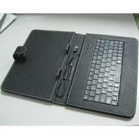 """Wholesale A13 Cases - 9"""" leather Flip Stand keyboard case cases for tablet pc Micro USB for Allwinner A13 free shipping"""
