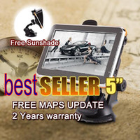 Wholesale Gps World Maps - Free ship Car GPS Navigation 5''Touch Screen with 533MHz CPU bluetooh AV-IN ,free 2014 3d World Map