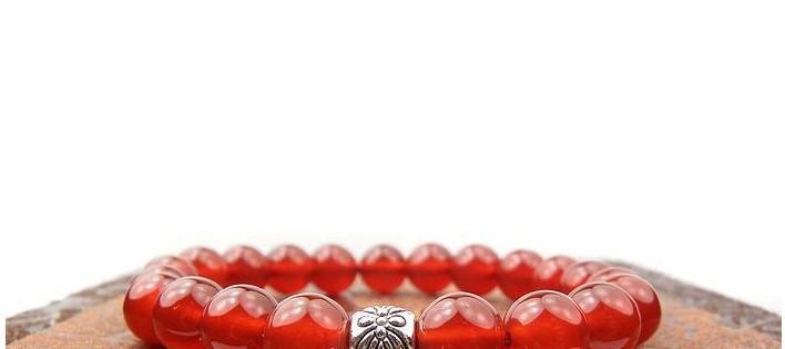 자연 적색 마노 팔찌 블랙 오닉스 팔찌 양 팔찌 성공적인 경력 보석 페르시 스트랜드 팔찌 348