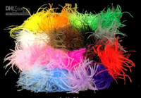 Wholesale Ostrich Feathers Clips - ostrich puffs fashion ostrich feathers ostrich puffs with hair clip on the back 100 pcs mix color