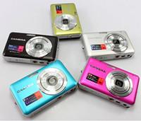 Wholesale Cheap Tft Lcd - 2.7 TFT LCD Digital Camera 5.0 Mega Pixels COMS sensor Anti-shake Cheap Camera DC-E70 dropshipping