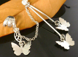 Wholesale Cheap Butterfly Charms - Butterfly Ear Cuff Earrings Alloy Jewelry Supplier Cheap Jewelry Free Shipping LM-C102