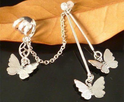 Butterfly Ear Cuff Earrings Alloy Jewelry Supplier Cheap Jewelry LM-C102