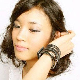 Hot Nieuwe Mode Dames Sieraden Mode Persoonlijkheid Multi-Layer Lederen Armband Dames Armbanden Gratis verzending met Tracking nummer 355