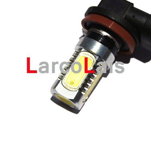 최고 품질 백색 2 x H8 7.5W LED 차 안개 빛 매우 밝은 전조등 전구 램프 12V DC